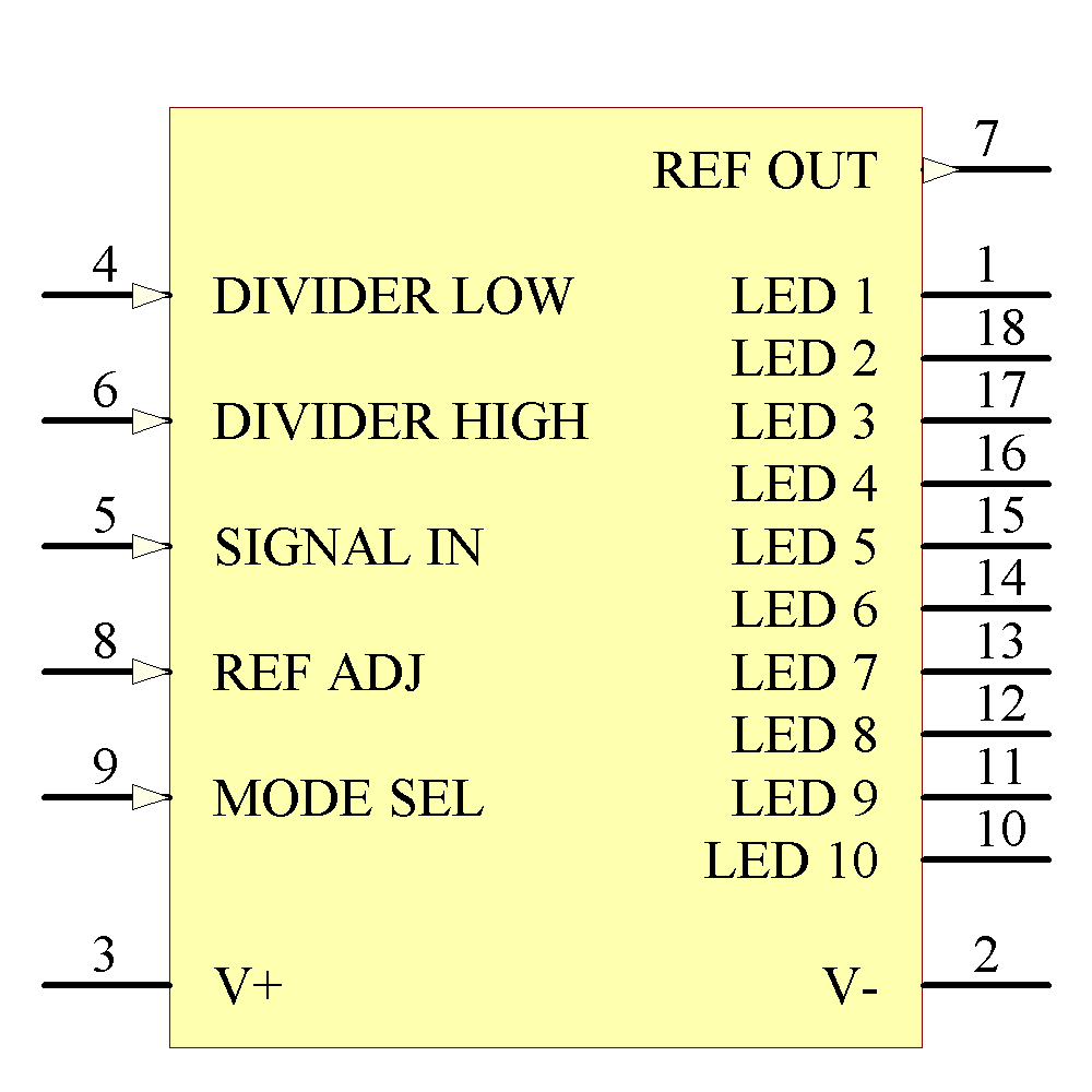 LM3914N-1/NOPB Symbol - Texas Instruments National Semiconductor