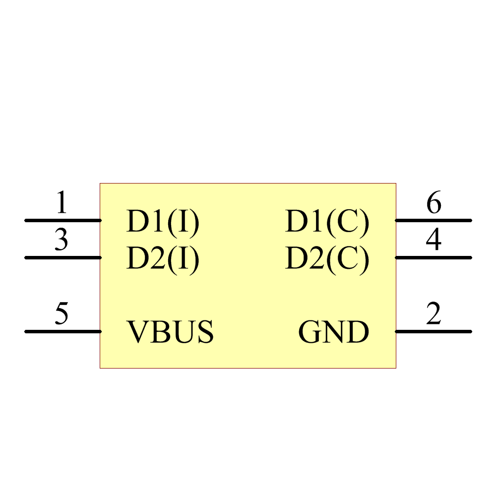NUF2221W1T2G Symbol - ON Semiconductor