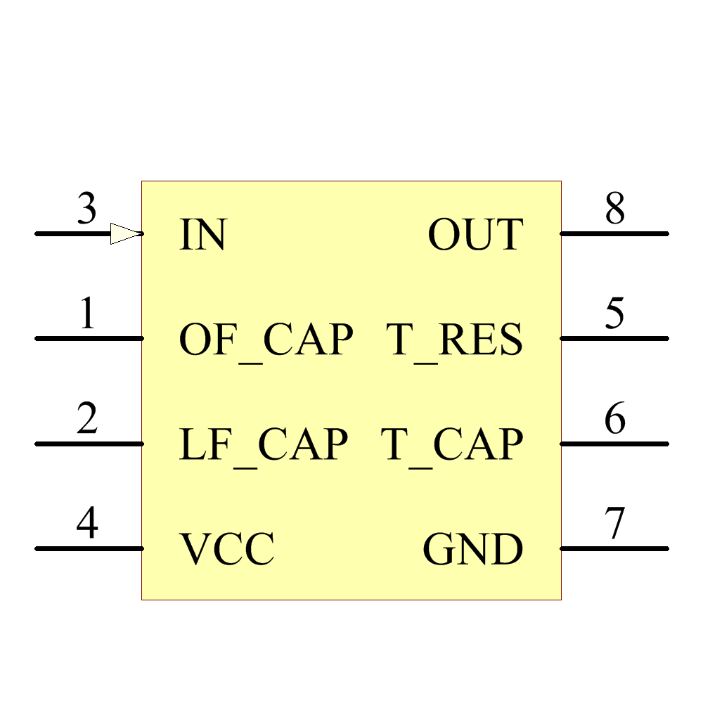 LM567CN/NOPB Symbol - Texas Instruments National Semiconductor