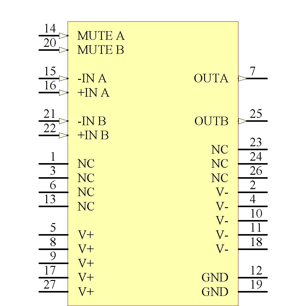 Lm4780ta Texas Instruments National Semiconductor Ciiva Lm380 Datasheet Audio Power Amplifier Symbol